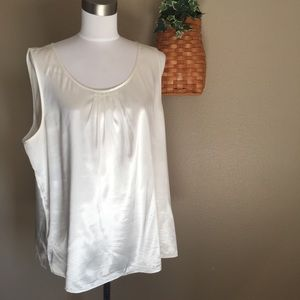 Chico's Off White Sleeveless Shell Size 3